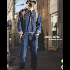 Other - Denim coveralls jumpsuit new with tags size large